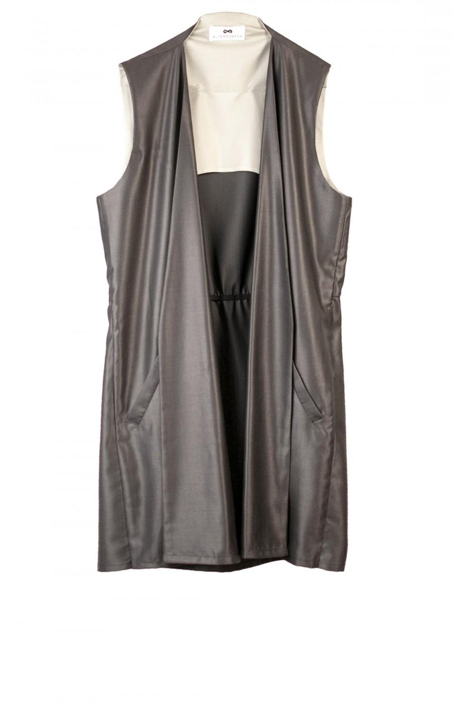 long silk vest