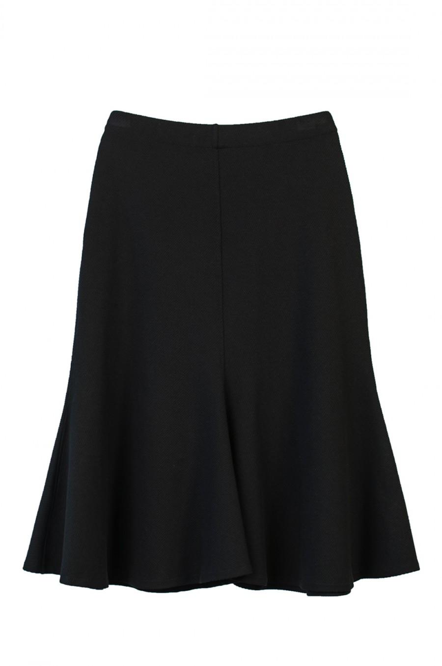 midi black skirt