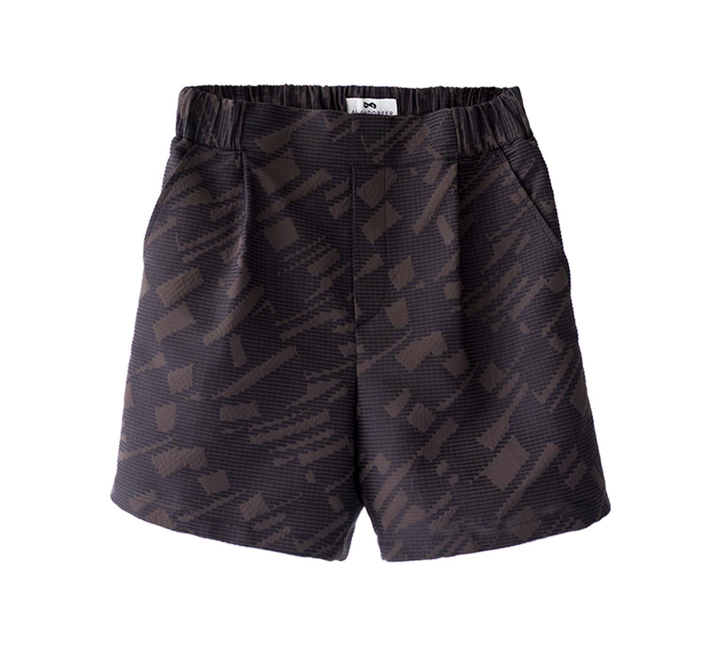 pattern pleated short trousers   Altendorfer Studios